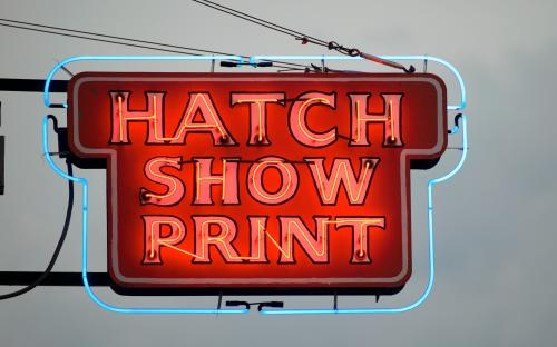 Hatch Show Print, as ween on Walkin' Nashville walking tour